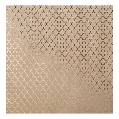 Bazzill Kraft Gold foil Paper - Lattice