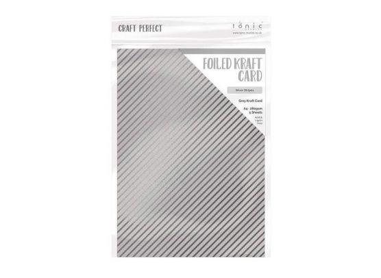 Add on Juli - Tonic Studios - Foiled Kraft Card - Silver Damask