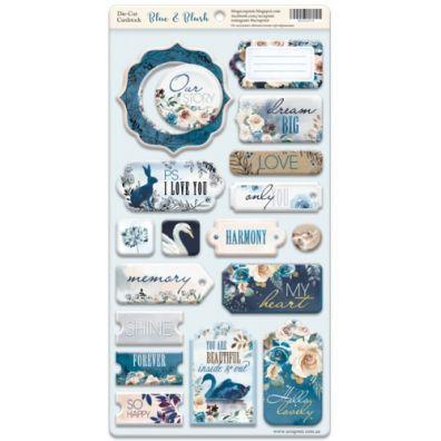 Scrapmir - Blue & Blush - Die-cut Cardstock