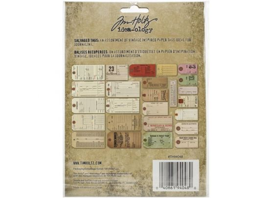 Add on August - Idea-ology - Salvaged Tags fra Tim Holtz