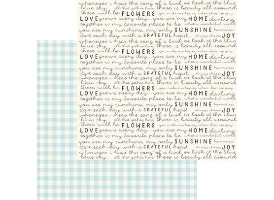 Gingham Farm - Hannah mønsterpapir fra My Minds Eye
