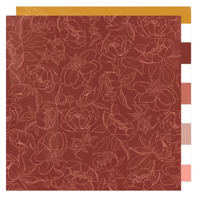 Honey & Spice - Flourish mønsterpapir fra Heidi Swapp