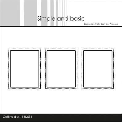 Simple and Basic dies - Frimærke Rektangel