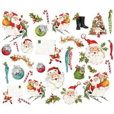 Simple Stories Santa Bits & Pieces Diecuts