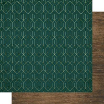 "KaiserCraft Emerald Eve - Christmas Pine 12""x12"" mønsterpapir"