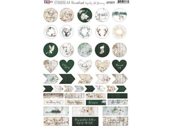 13arts Dreamland Stickers A4