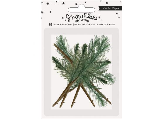 Add On November - EKSTRA Crate Paper - Snowflake - Pine Branches