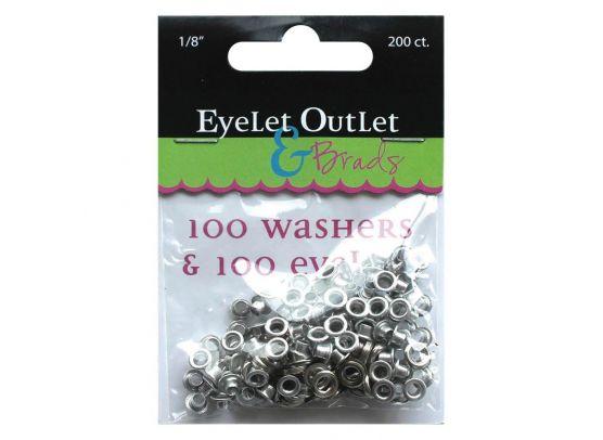 """Eyelet Outlet & Brads - Eyelets & Washers 1/8"""""""
