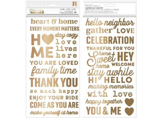 Jen Hadfield - The Avenue Stickers - Puffy Gold Hearts