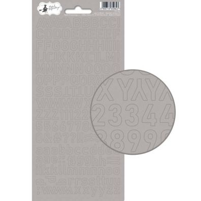 Add on Januar kit - American Crafts Glitter Alpha - Silver