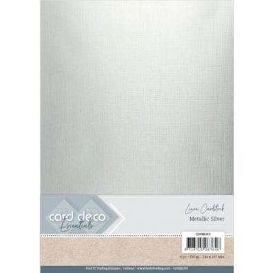 Card Deco Essentials - Linen Cardstock - Metallic Rose Gold