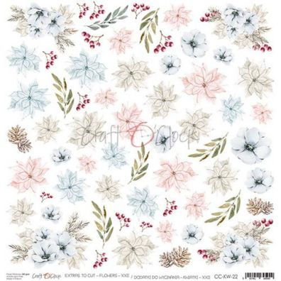 Extra To Cut - Flowers - XXII mønsterpapir fra Craft O'Clock