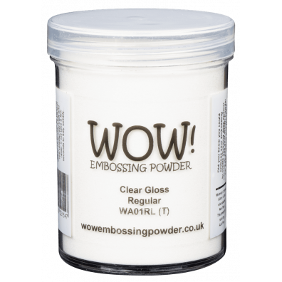 Wow Embossing Pulver  - Clear Gloss Super Fine - 160ml
