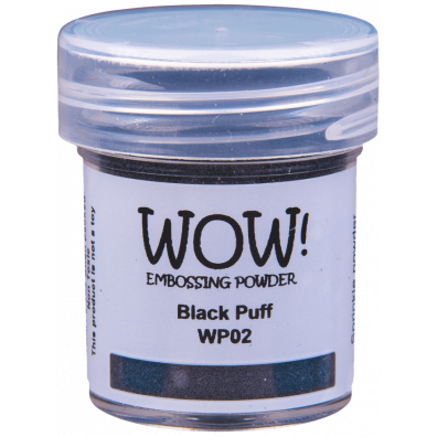 WOW Embossing Pulver - Black Puff