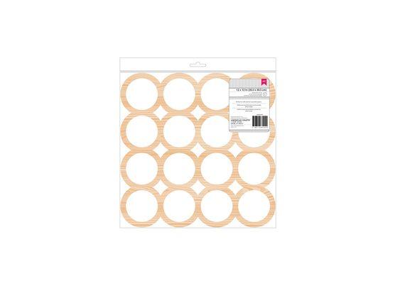 Circles - 12x12 Wood Veneer fra American Crafts