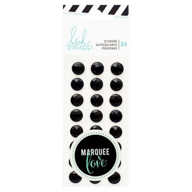 Marquee Love Collection - Rhinestone Stickers Black fra Heidi Swapp
