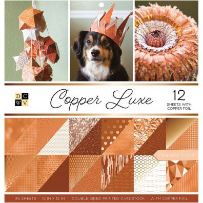 Silver Leaf DCWV Double sided 12x12 Cardstock Stack