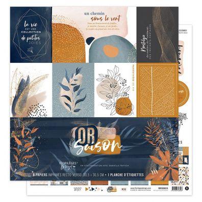 Or Saison - 12x12 Paper Pack fra Florileges Design