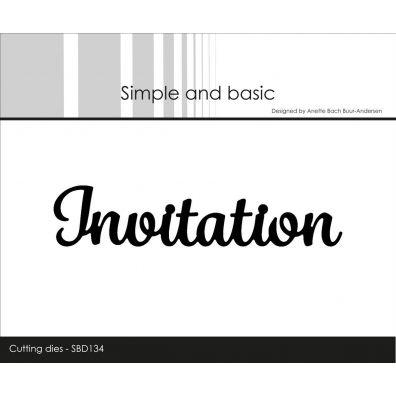 Simple and Basic Die - Invitation