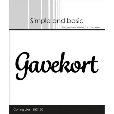Simple and Basic dies - Gavekort