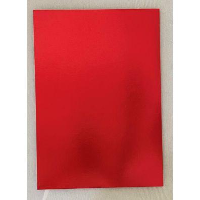 Rubinrød Karton A4 - 1 ark