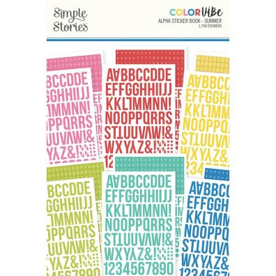 Simple Stories - Color Vibe - Alpha Sticker Book - Winter