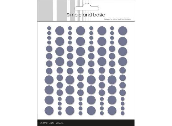 Simple and basics enamel dots soft white