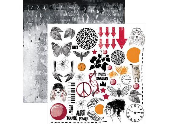 In Love - Udklipsark 12x12 fra 13arts