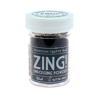 Zing Embossing pulver Black Glitter