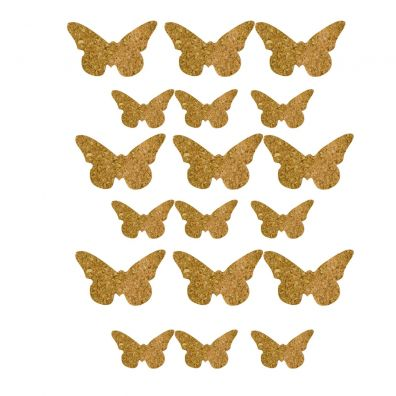 Vaessen Creative - Cork Stickers - Butterflies 12,5x14,5 cm
