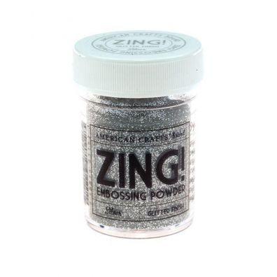 Zing Embossing pulver Sølv Glitter