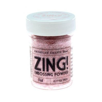 Zing Embossing pulver Pink Glitter