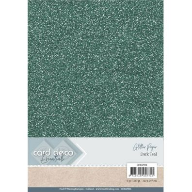 Card Deco Essentials - A4 Glitter Paper - Bordeaux