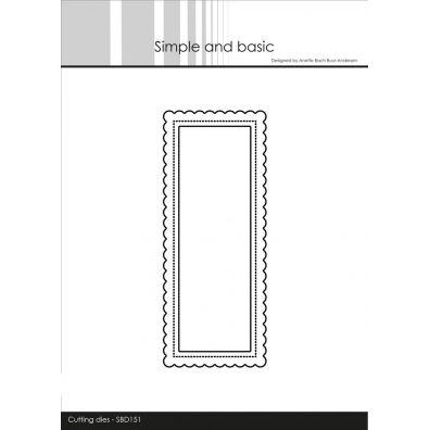 Simple and Basic dies - Mini Slimcard - Mini Bølgeramme