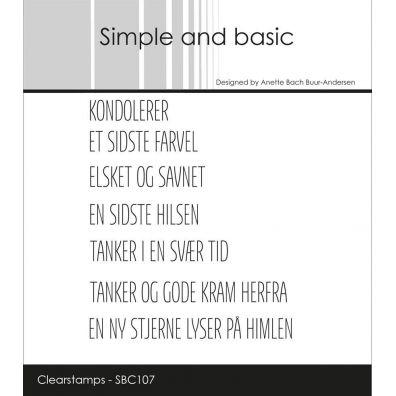 Simple and Basic stempler - Dansk Tekst - Hurra, skål mm.