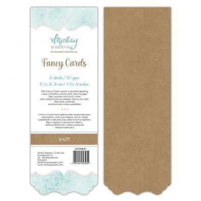 Mintay Papers - Fancy Cards - Kraft 01