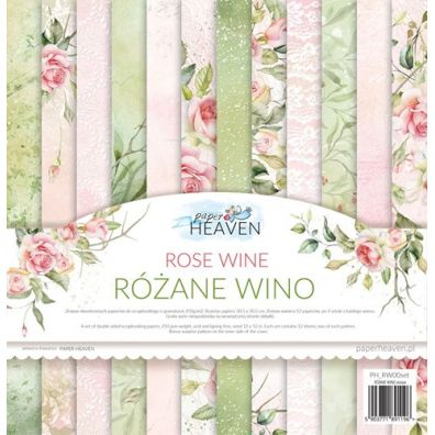 Rose Wine 12x12 Paper Pad fra Paper Heaven