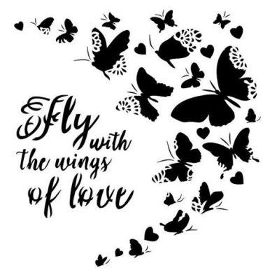 Stencil In Love - Falling Hearts