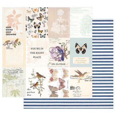 Nature Lover Collection - In Flight 12x12 mønsterpapir fra Prima Marketing
