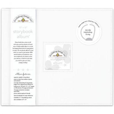"Doodlebug - Storybook D-ring Album 12""x12"" - Lily White"