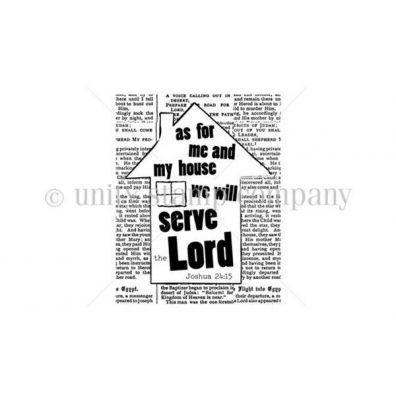 Our House... Serve the Lord - Itty Bitty by Unity Stamp Company