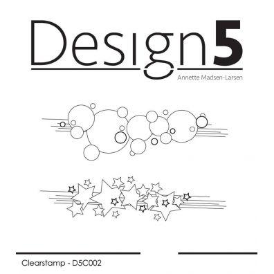Design 5 clear stamp - En Hilsen