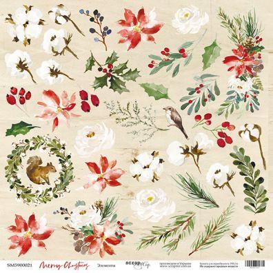 Christmas Night - Wishes 12x12 mønsterpapir fra Scrapmir