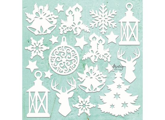 Add on Oktober - Mintay Chippies - Decor - Christmas Mix 12x12 Chipboard