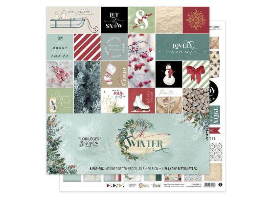 Add on Oktober - Oh Winter 12x12 Paper Pack fra Florileges Design