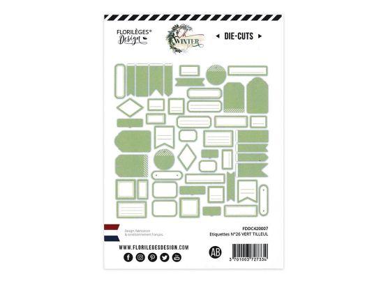 Add on Oktober - Etiketter lys grøn/hvid Die Cuts fra Florileges Design