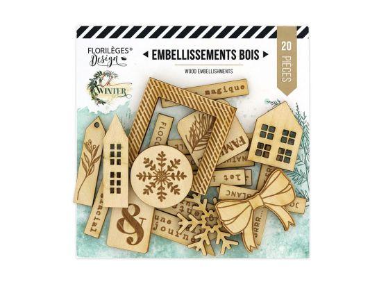 Add on Oktober - Oh Winter træpynt fra Florileges Design