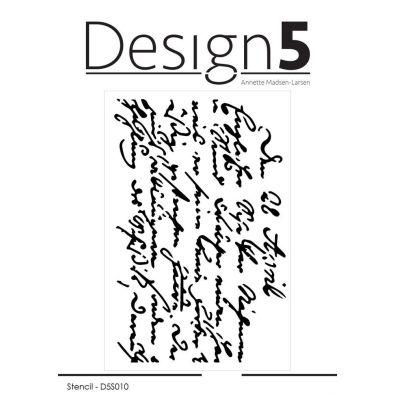 Design 5 Stencil - Script