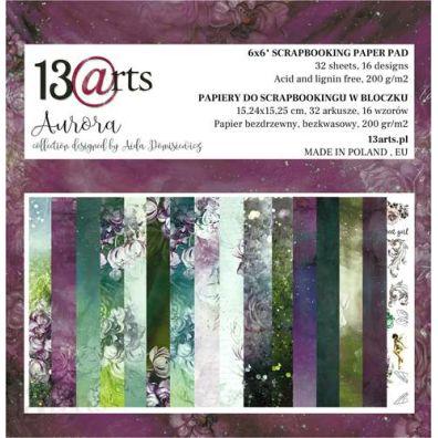 Aurora 6x6 Paper Pad fra 13arts