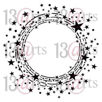 Aurora - Circle of Stars 6x6 Stencil fra 13arts